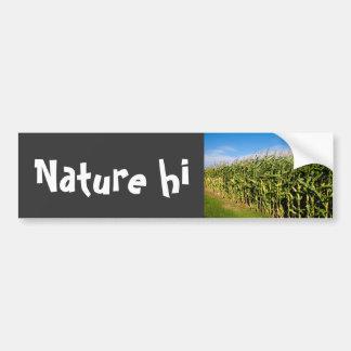 cornfield and sky car bumper sticker