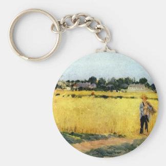 Cornfield by Berthe Morisot Keychain