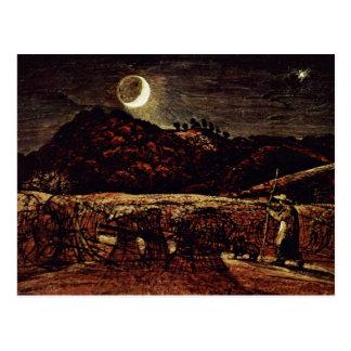 Cornfield In The Moonlight By Palmer Samuel Postcard