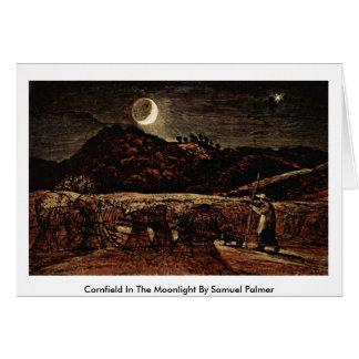 Cornfield In The Moonlight By Samuel Palmer Card
