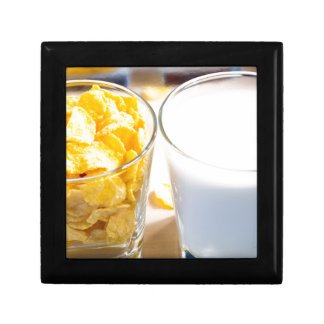 Cornflakes and milk for breakfast gift box