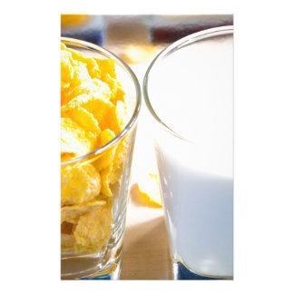 Cornflakes and milk for breakfast stationery