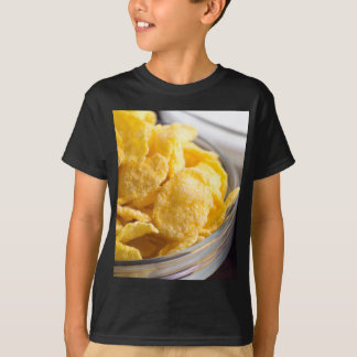 Cornflakes in a transparent bowl closeup T-Shirt