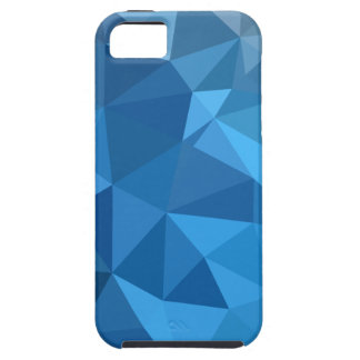 Cornflower Blue Abstract Low Polygon Background Case For The iPhone 5