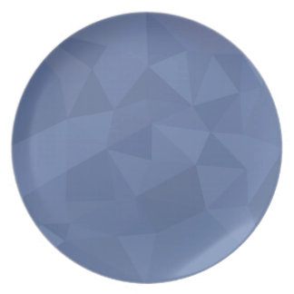 Cornflower Blue Abstract Low Polygon Background Dinner Plates