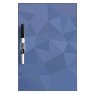 Cornflower Blue Abstract Low Polygon Background Dry Erase Board