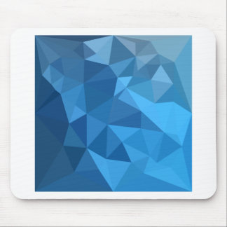 Cornflower Blue Abstract Low Polygon Background Mouse Pad