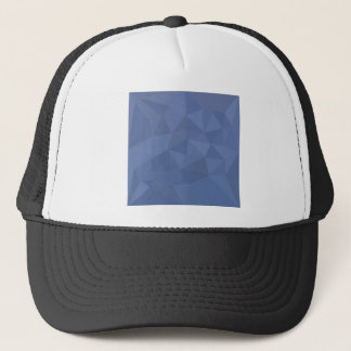 Cornflower Blue Abstract Low Polygon Background Trucker Hat
