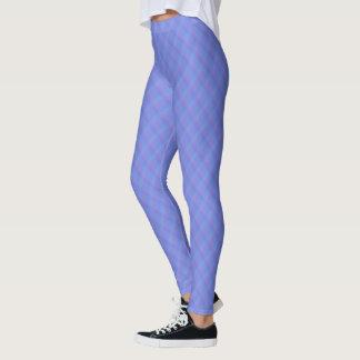 Cornflower Blue and Purple Ombre Harlequin Leggings