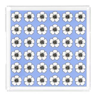 Cornflower-Blue-Cottage-Flower's-TRAY_Home-Decor Acrylic Tray