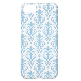 Cornflower Blue Damask iPhone 5 Case