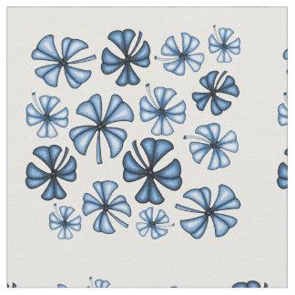 Cornflower Blue Lucky Shamrock Clover Fabric