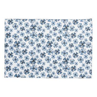 Cornflower Blue Lucky Shamrock Clover Pillowcase