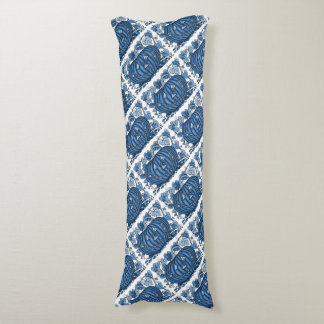 Cornflower Blue Spidery Pumpkin Body Cushion