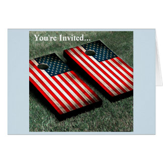 Cornhole Party July 4th Outdoor Games Card