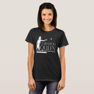 Cornhole Queen Funny Party Game Distressed T-Shirt