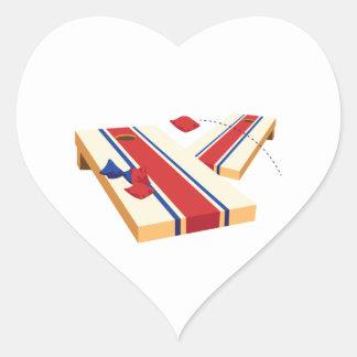 Cornhole Toss Heart Sticker