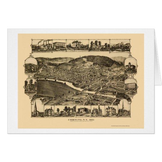 Corning, NY Panoramic Map - 1882 Card
