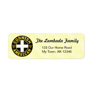 Cornish American Address Labels