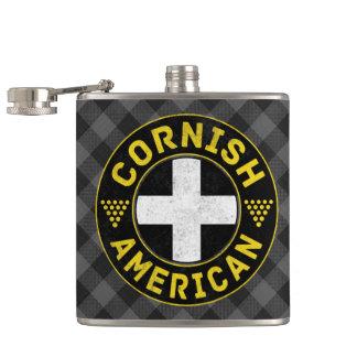 Cornish American Flag Hipflask Hip Flask