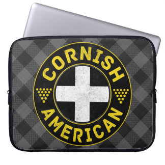 Cornish American Flag Laptop Cover