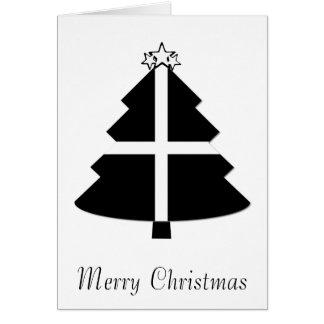 Cornish Flag Christmas Tree Card