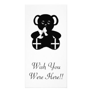 Cornish Flag Teddy Bear Photo Card Template
