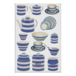 Cornish Kitchen ware Print