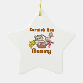 Cornish Rex Cat Mom Ceramic Ornament