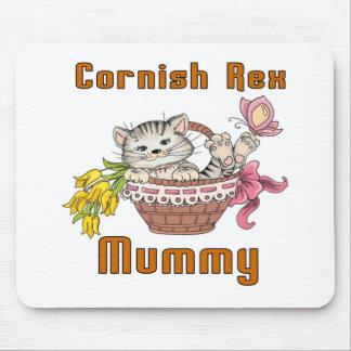Cornish Rex Cat Mom Mouse Pad