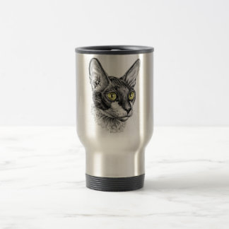 Cornish Rex Sketch Travel Mug