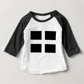 Cornish Saint Piran's Cornwall Flag - Baner Peran Baby T-Shirt