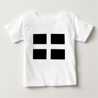 Cornish Saint Piran's Cornwall Flag - Baner Peran Baby T-Shirt
