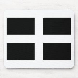 Cornish Saint Piran's Cornwall Flag - Baner Peran Mouse Pad