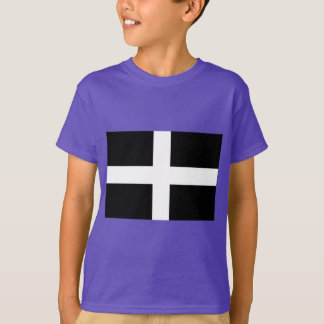 Cornish Saint Piran's Cornwall Flag - Baner Peran T-Shirt