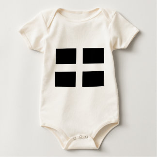 Cornish Saint Piran's Flag - Flag of Cornwall Baby Bodysuit