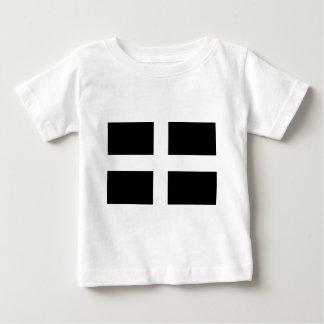 Cornish Saint Piran's Flag - Flag of Cornwall Baby T-Shirt