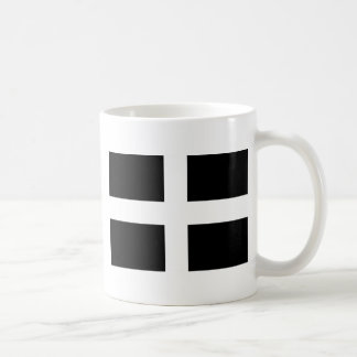 Cornish Saint Piran's Flag - Flag of Cornwall Coffee Mug
