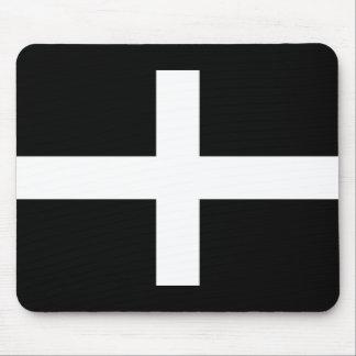 Cornish Saint Piran's Flag - Flag of Cornwall Mouse Pad