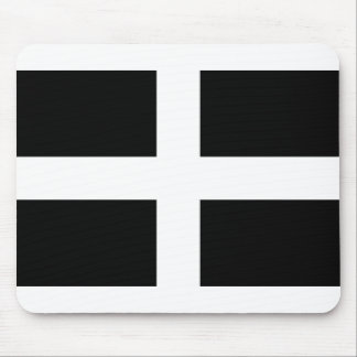 Cornish Saint Piran's Flag - Flag of Cornwall Mouse Pad