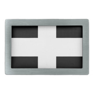 Cornish Saint Piran's Flag - Flag of Cornwall Rectangular Belt Buckles