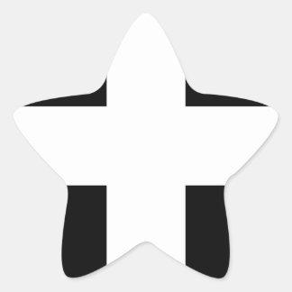 Cornish Saint Piran's Flag - Flag of Cornwall Star Sticker