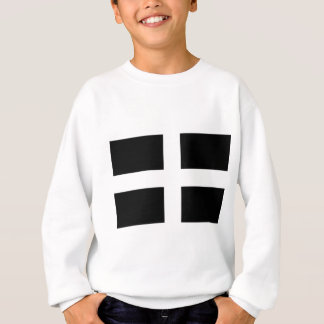 Cornish Saint Piran's Flag - Flag of Cornwall Sweatshirt