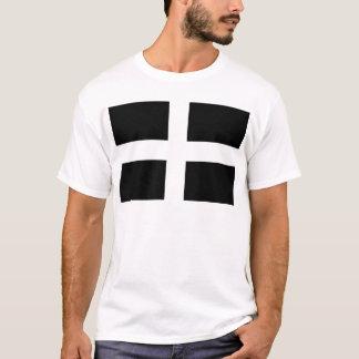 Cornish Saint Piran's Flag - Flag of Cornwall T-Shirt