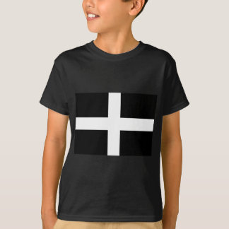 Cornish Saint Piran's Flag - Flag of Cornwall T-Shirt