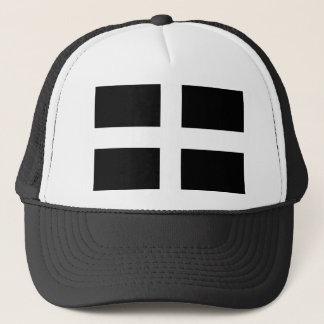 Cornish Saint Piran's Flag - Flag of Cornwall Trucker Hat