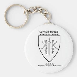 Cornish Sword Full Crest key ring