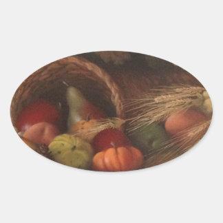 Cornucopia Oval Sticker