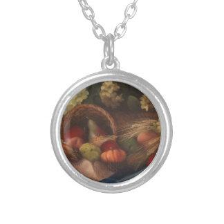 Cornucopia Silver Plated Necklace