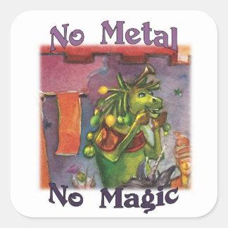 Cornum No Metal No Magic Stickers